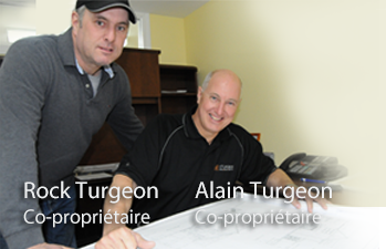 Alain Turgeon et Rock Turgeon, Co-Propirétaires de A.R. Turgeon Portes, Fenêtres et Rénovations
